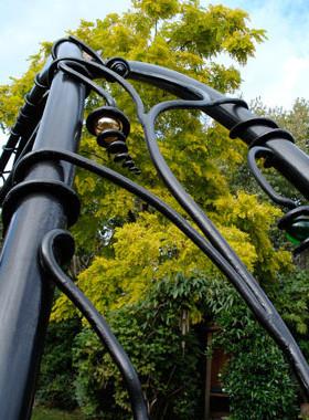 family garden swing detail