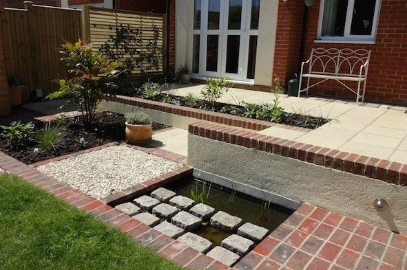 mediterranean courtyard flavour for eastbourne old town garden
