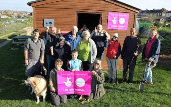 Big Lottery fund Wilderness Project at Seaford Allotments