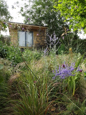 garden cabin designed for nature watching