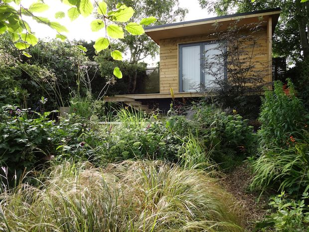 garden cabin designed for nature watching in east sussex for carol whitehead garden design