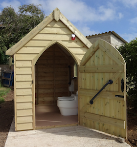 disabled compost toilet seaford allotments carol whitehead garden design