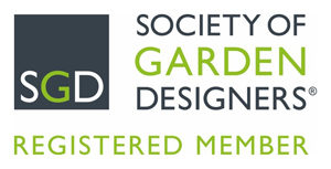 Logo displaying that Carol Whitehead is a Registered Member of the Society of Garden Designers